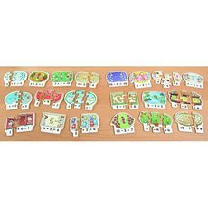 Reinforce basic addition and subtraction skills with these hands-on puzzles. Each set includes 10 × 3-piece wooden puzzles, each #showing a simple #calculation in both pictures and #numbers. #british #england #derby #madeinengland #madeinbritain