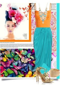 """""""Turquoise & Orange"""" by thepeachblossom on Polyvore"""