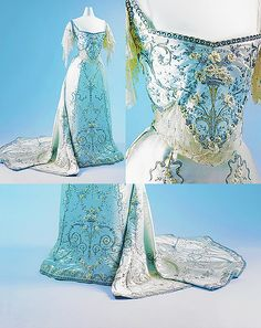 1900-05 Worth Ballgown - gorgeous embroidery.