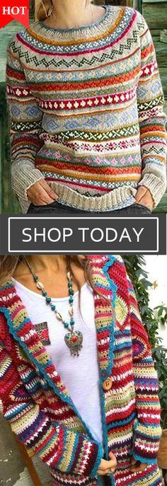 Knitted Style Coats & Sweaters, Shop Now Sweater Shop, Sweater Coats, Dresses For Less, Pretty Dresses, Petite Fashion, Boho Fashion, Boho Outfits, Girl Outfits, Fair Isle Knitting