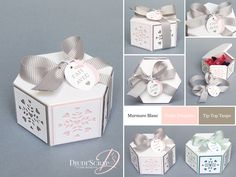 Stampin'Up! by Djudi'Scrap - Boîte Chocolats Dragées Baptême « Thinlits Jardinières / Window Box Thinlits Dies » Pochette Diy, Stampin Up, Tip Top, Envelope Punch Board, Pretty Box, Scrapbook Paper Crafts, Gift Bags, Wedding Cards, Christmas Cards