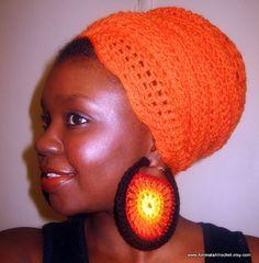 HEADWRAPS  Orange Hounyee Wrap by AminataAfrochet on Etsy, $40.00