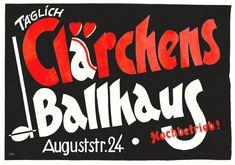 Plakat Clärchens Ballhaus