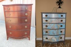Painting Furniture Ideas - Learn how to transform flea market finds! Ideas from painting kitchen cabinets to fan blades!