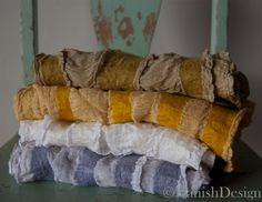 stack of nuno scarves, dyed with natural dyes. | Flickr - Photo Sharing!