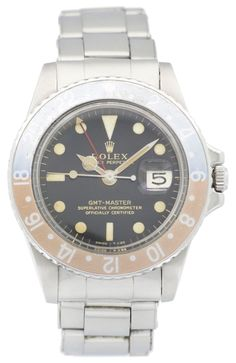 Rolex GMT-Master, ref. 1675 with Gilt Dial for sale by a trusted dealer on Rolex Passion Market, the No.1 Vintage Rolex Marketplace!