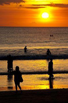 Kuta+beach+sunset+III