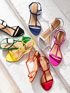 rainbow colours Calli capri sandals Talbots.
