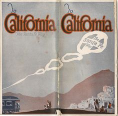 Santa Fe railroad - To California brochure, c1935