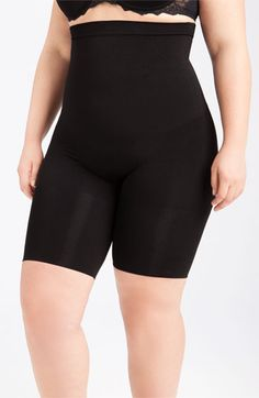 SPANX® 'Slim Cognito' Mid Thigh Bodysuit Shaper (Plus Size) available at #Nordstrom
