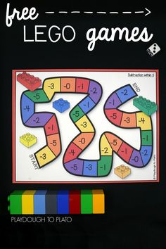 Free LEGO math games for kids! Fun way to practice addition and subtraction.