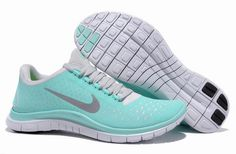 Nike Free 3.0 v4 Bluish Green Reflective Silver Womens Running Shoes