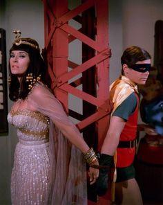 Batman (1966) -- Lee Merriweather as Lisa, kidnapped by King Tut.