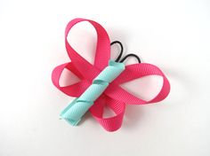 CUSTOM Butterfly Hair Bow - Butterfly Ribbon Sculpture Hair Clip - Butterfly Party Favor - Hair Clips - You Pick CUSTOM COLORS
