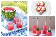 11 Creative ways to serve watermelon. Yay for summer entertaining! Potluck Recipes, Summer Recipes, Appetizer Recipes, Snack Recipes, Snacks, Cool Mom Picks, Frozen Drinks, Food Humor, Creative Food