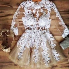 Lovely White Floral Lace Women Party Dress | Daisy Dress for Less | Women's Dresses & Accessories #partydress #dressforteenscasual