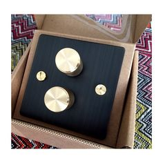 Our beautiful dimmer switches in smoked bronze/brass finish have arrived. Can't wait to see these installed in our next project. Thank you @busterandpunch for making us gaga over hardware! #hayekdesigns #interiors #busterandpunch