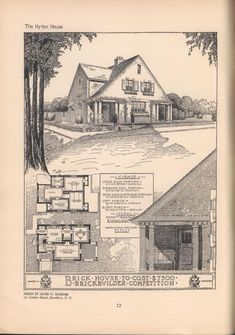 3329 best retro house plans images on pinterest vintage for Moderate house plans