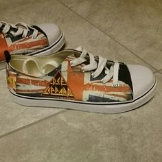 Def Leppard tennis shoe made to order. I SO Want These!! :D