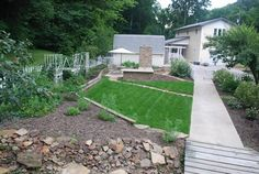 The landscaping is perfect at this Brown County Cottage Estate for sale