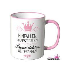 """Becher & Tassen - Wandkings Tasse, Spruch """"HINFALLEN, AUFSTE... - ein Designerstück von Wandkings-de bei DaWanda"""