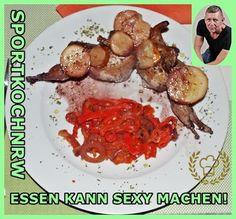 """Liebe geht durch den Magen"" oder wenn das Essen sexy macht!: In Bordeaux geschmorteWachteln an Paprika-Tomaten..."