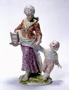 """kunstundkosmos.de  Bettelfrau mit zwei Kindern"""" von Johann Wilhelm Lanz. Zwei Kinder? Ein Säugling in der Wiege, ein kleiner Zappelphilipp an Mamas Hand - mit der individuellen Körpersprache von Menschen aller Art kannte Lanz sich aus."""