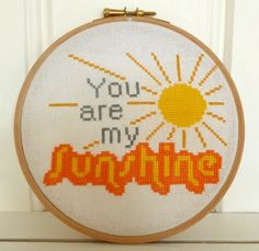 Stitches by Sarah's Cards - Cross Stitch Kit - You are my Sunshine