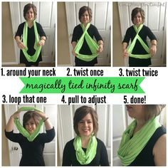 How to wear infinity scarves without all the bulkiness  via ComeHomeForComfort.com