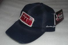 "Chase Authentics NASCAR National Guard 2007 Landon Cassill #5 Buckle Back Cap by Chase Authentics. $9.19. Navy blue throwback Lanson Cassill National Guard Cap with intentionally ""worn"" look. ""Worn"" National Guard patch is embroidered on the front. Bill is intentionally frayed. ""Landon Cassill"" is embroidered in white on the left. ""5"" is embroidered on the back in red along with the JR Motorsports, Chase Authentics and Nascar logo also embroidered on the back i..."