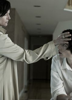 "Tilda Swinton as Eva Khatchadourian and Ezra Miller as Kevin Khatchadourian in ""We Need to Talk About Kevin"" directed by Lynne Ramsay"