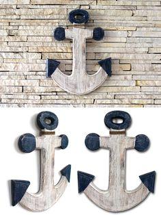 Âncora em Madeira da Indonésia. Linda!!! - âncora para decoração - âncora em madeira - decoração para casa de praia - âncora decorativa