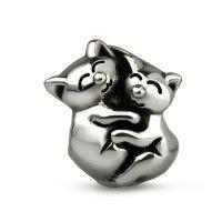 Sterling Silver Warm Fuzzies Cuddle Charm