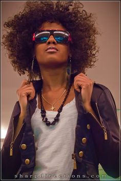Love the jacket! Love the fro #curlyhair #officiallynatural #naturalhairrocks