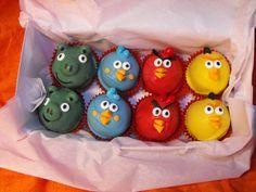 Angry Birds Cake Balls Mini cupcake bites by mycakepopshop on Etsy,
