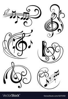 New music note illustration musique 60 ideas Music Tattoo Designs, Music Tattoos, Body Art Tattoos, Music Symbol Tattoo, Small Tattoos, Tatoos, Tattoo Noten, Vogel Silhouette, Music Notes Art