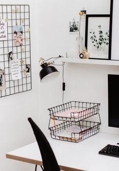 Most Popular Modern Home Office Design Ideas For Inspiration - Modern Interior Design Small Space Interior Design, Home Office Design, Home Office Decor, Room Interior, Interior Design Living Room, Modern Interior, Cute Room Decor, Aesthetic Room Decor, Tumblr Rooms