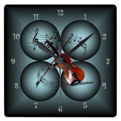 Violin ~Four Globe ~Musical Clock ~ Musical Scale~