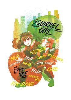 Marvel Rising: Secret Warriors Squirrel Girl official art Marvel E Dc, Marvel Fan Art, Marvel Women, Marvel Girls, Squirrel Girl Marvel, Unbeatable Squirrel Girl, Secret Warriors, Marvel Drawings, Cute Squirrel
