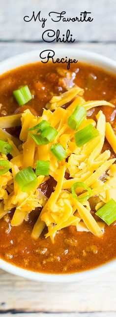 A delicious recipe for chili. It's the perfect meal for the cooler months.