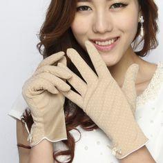 Rieu Summer Sunscreen Gloves Car Non-slip UV Women Thin Short Paragraph Shade Cotton Spring Gloves 17582942546