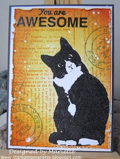 You are awesome - tuxedo cat ATC
