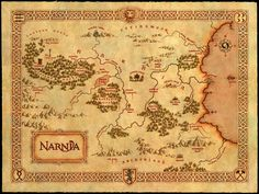 Map of Narnia courtesy of Walden Media found on http://www.thestonetable.com #books #maps