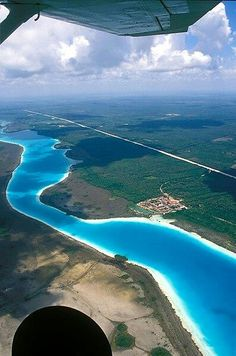Have wanted to go down there when we travel to the Cancun area- Bacalar; Quintana Roo, MX ( this is an inland lake). So Beautiful !!