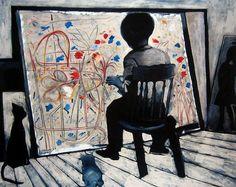 Paintings - Charles Blackman - Page 5 - Australian Art Auction Records Australian Painters, Australian Artists, Alice In Wonderland Series, Arthur Boyd, Girls With Flowers, Fine Art Auctions, Cat People, Enamel Paint, Modern Artists