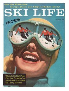 Ski Life Magazine Print 11 x 14 Vintage Ski Print Ski Vintage, Vintage Ski Posters, Vintage Winter, Vintage Decor, Décor Ski, Ski Et Snowboard, Snowboarding, Winter Fun, Winter Sports