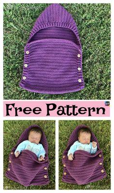 Crochet Newborn Sleep Sack – Free Pattern #freecrochetpatterns #babygift #sleepsack