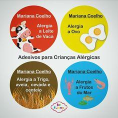 Adesivos para crianças que possuem algum tipo de alergia.