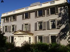 The Hooper-Lee-Nichols House in Cambridge, Massachusetts was constructed in 1685. It is the 2nd-oldest house in the city. The house was originally built by Dr. Richard Hooper as a typical First Period farmhouse. In 1716 Hooper's son purchased a 2nd house, had it disassembled, moved to the site & reassembled, thereby doubling the size of the house. In 1733, he sold the house to Cornelius Waldo, who added a third story & began the process of converting the house to Georgian style.