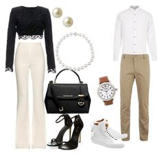 """""""Casual Brunch Date"""" by alajah-b on Polyvore featuring Giambattista Valli, Stone_Cold_Fox, Carolee, Michael Kors, River Island, Lacoste, BUSCEMI, Shinola, women's clothing and women"""